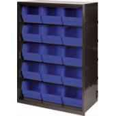 FD Cabinets 15 Polyprop Bins Gry/Bl